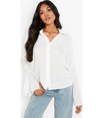 blouse met mouwsplit, ivory