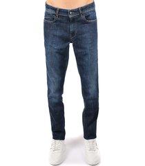 hogan hogan blue denim jeans