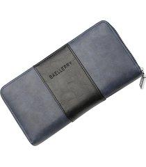 billetera larga para hombres baellerry rgi cartera-azul