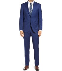 men's big & tall peter millar flynn graph check wool suit