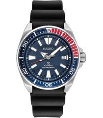 seiko men's automatic prospex diver black silicone strap watch 44mm
