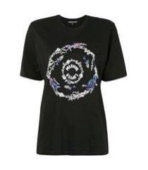markus lupfer camiseta com paetês e estampa de logo - preto