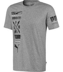 camiseta advanced graphic puma mujer 581914 03 gris