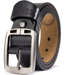 cinturón hombre vintage bison hebilla semicuadrada 125cm 1223 negro