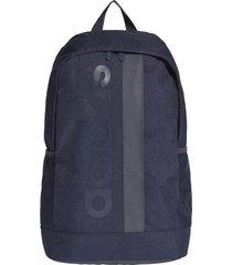 maleta azul oscuro adidas linear core ed0227  envio gratis*