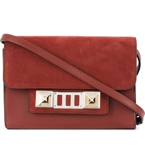 proenza schouler nubuck ps11 wallet with strap - red