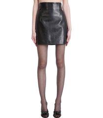 magda butrym skirt in black leather