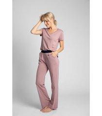 pyjama's / nachthemden lalupa la017 boxershort katoen - perzik