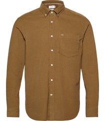 button down fine corduroy shirt skjorta casual beige calvin klein