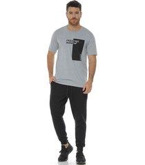 camiseta manga corta cuello redondo gris jasped racketball para hombre