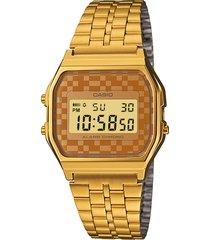 relógio casio feminino a159wgea9adf dourado - kanui