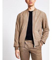 river island mens light brown bomber jacket