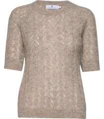 georgina pointelle t-shirts & tops knitted t-shirts/tops beige arnie says