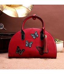 spalla borsa a tracolla borsa della borsa del semicerchio di stile nazionale delle donne