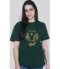 camiseta action clothing el capitan verde musgo