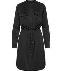 amy twill dress korte jurk zwart mos mosh