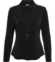 &co woman and co blouse lotte black plain