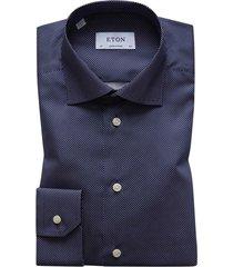eton overhemd navy polka dot contemporary fit