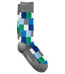 travel tech color block mid-calf socks, 1-pair