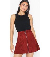 only onlea faux suede bonded skirt cc ot minikjolar