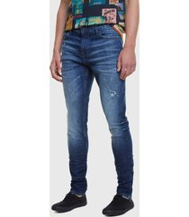 jeans desigual recto azul - calce regular