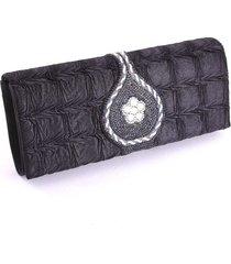 pop033-blk fashion evening clutch bag