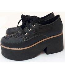zapato de cuero negro artecueros roma nasau