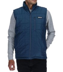 parka sm foundation synthetic vest nylon azul petróleo cat