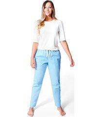 pijama confort pantalón para mujer color siete essential - azul peri
