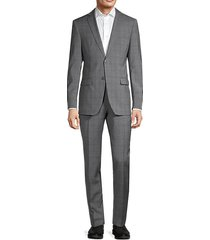 2-piece standard-fit wool-blend suit jacket & pants set