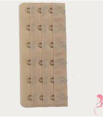 op en top zwanger beha / corset verlenger 6 haaks huidskleur (per stuk)