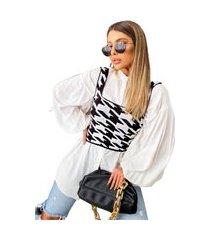 cropped de tricot modal luxo top blogueira tendencia regata premium