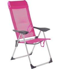 cadeira de praia piscina alumínio 5 posições bel lazer