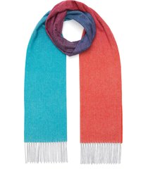 ombré fringe cashmere scarf
