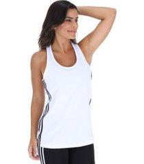 camiseta regata adidas design to move d2m 3-stripes tank - feminina - branco
