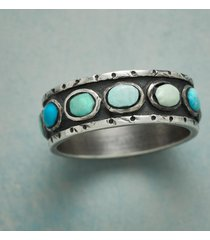 in the round turquoise ring