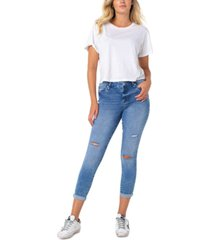 celebrity pink high rise ripped skinny ankle jeans