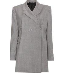 1017 alyx 9sm ring-detailed blazer - grey