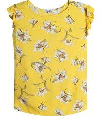 blusa mostaza-multicolor facol