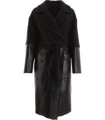 blancha wool and shearling coat