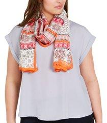 calvin klein bandana-print scarf