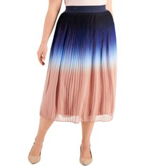 alfani plus size ombre pleated midi skirt, created for macy's