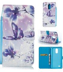 lg stylo 3 case, lg stylo 3 plus case,xyx [3d painting - butterflies flowers][wa