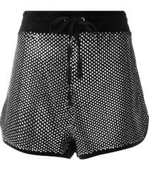 juicy couture swarovski embellished velour shorts - black
