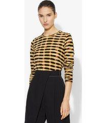 proenza schouler striped tie dye long sleeve t-shirt bleached marigold/yellow m