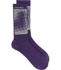 a-cold-wall* dot print socks - purple