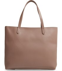 bp. faux leather classic tote - grey