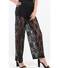 pantalon de encaje negro night concept