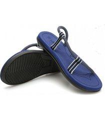 sandalias de verano casual para hombre-azul