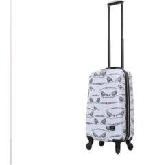 """halina valerie valerie aubergine 20"""" hardside spinner luggage"""
